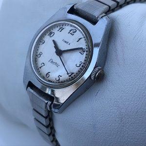 Timex Electric Ladies Watch Vintage Rare Silver